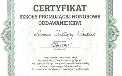 Otrzymaliśmy certyfikat