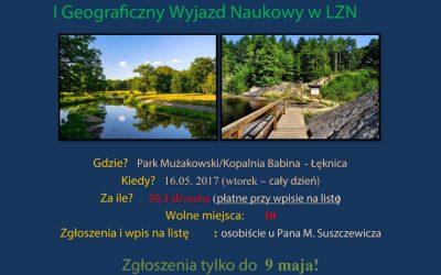 I Geograficzny Wyjazd Naukowy w LZN