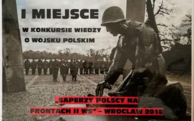 I miejsce w Konkursie Wiedzy o Wojsku Polskim