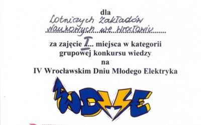 Udział w IV Wrocławskim Dniu Młodego Elektryka