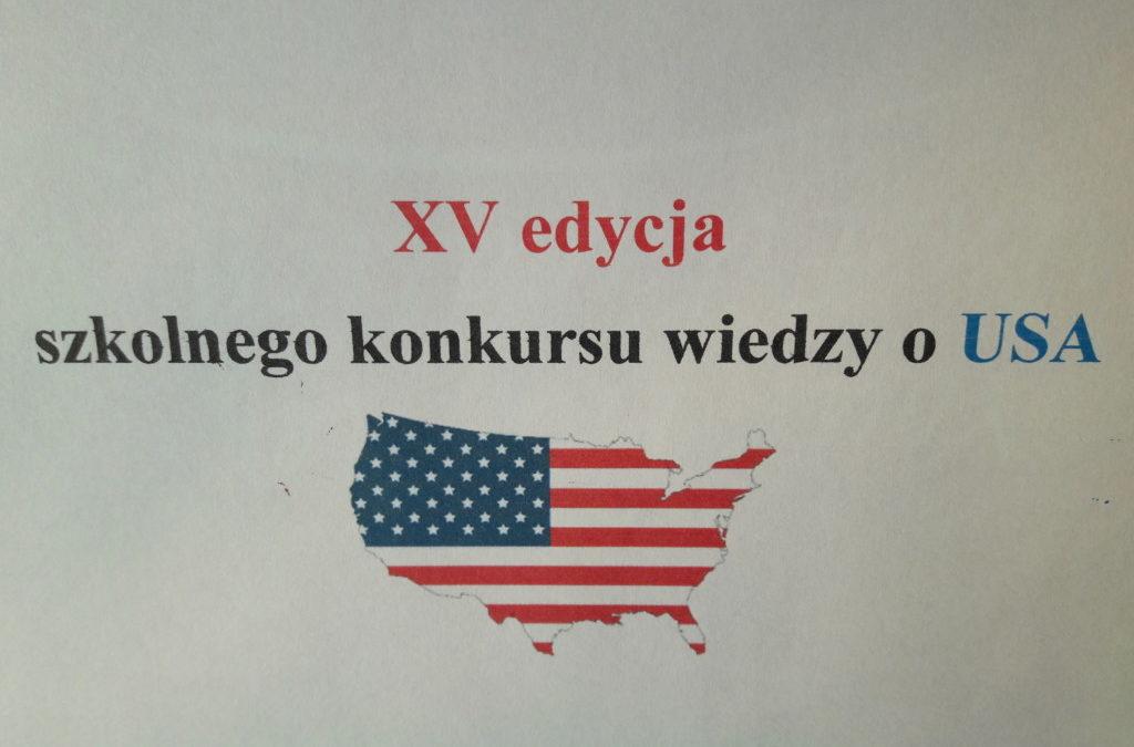 informacje dotyczące XV edycji konkursu wiedzy o USA